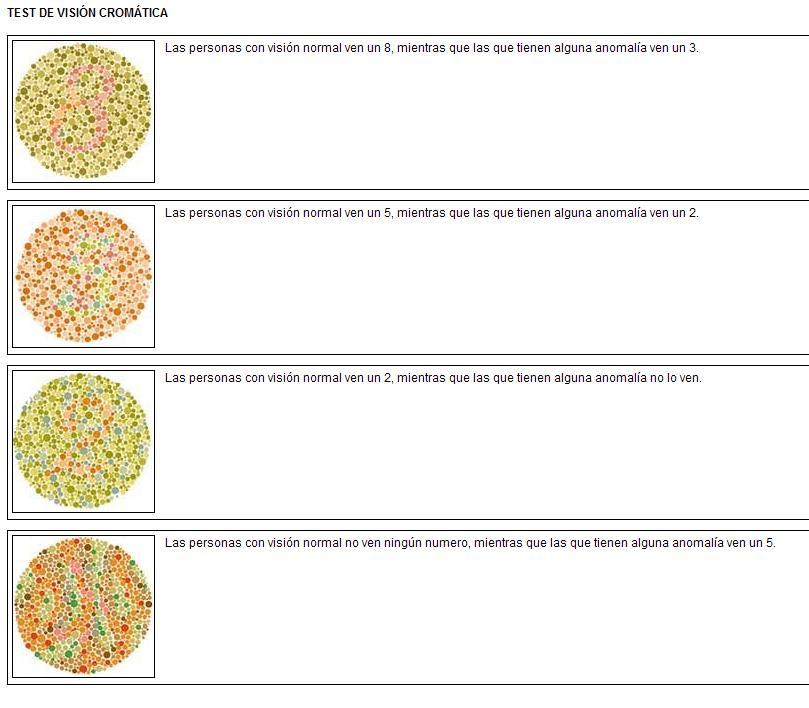 test para daltonicos