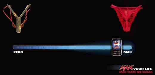 anuncio de pepsi max vs. coca zer0