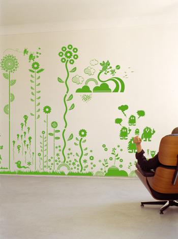 paredes con diseños en vinil