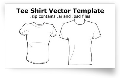 Tee Shirt Vector Template