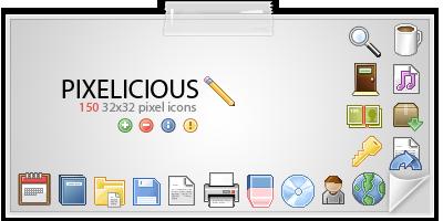 pixelicious, 150 iconos pixel