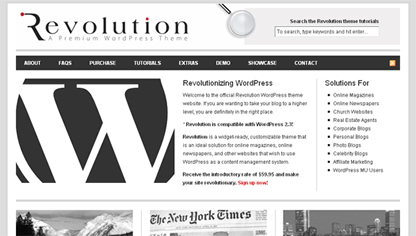Revolution Theme for a Magazine in WordPress