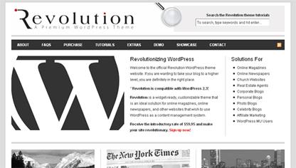 Revolution Theme for a Magazine in WordPress