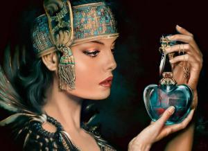 mujer azteca en 3D, maya en 3D