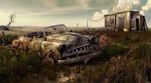 auto viejo en 3D