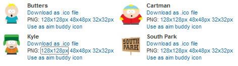 Iconos de South Park