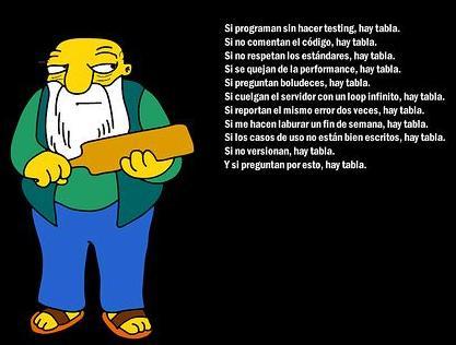 Los Simpsons, Reglas para programar