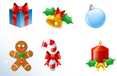 Set de Iconos Navideños