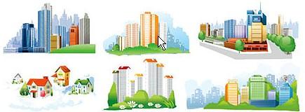 Vectores de Edificios y Casas