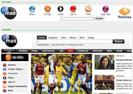 esmas.com sufre cambios en portada