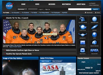 Rediseño de Paginas Web de la NASA
