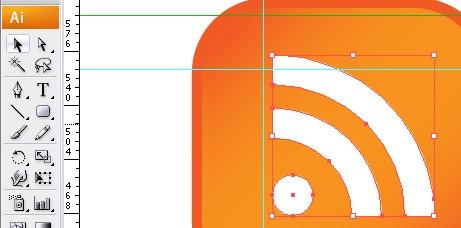 Boton RSS con illustrator