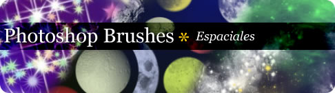 Brushes para Photoshop Espaciales