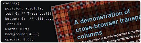 columnas transparentes con CSS
