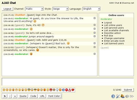 chat con ajax