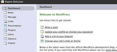 Tiger Admin Template para WordPress
