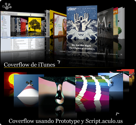 Coverflow Web con Prototype y Scriptaculous