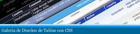 css para tablas Galeria de Diseños CSS para Tablas