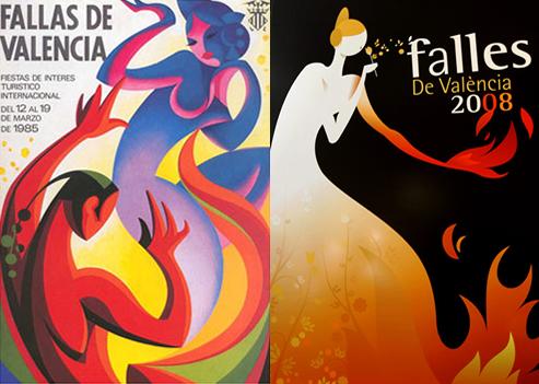 Carteles de las Fallas de Valencia