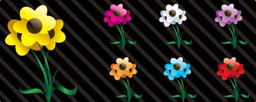 free vector art flowers 1 Vectores: Imagenes de Flores gratis