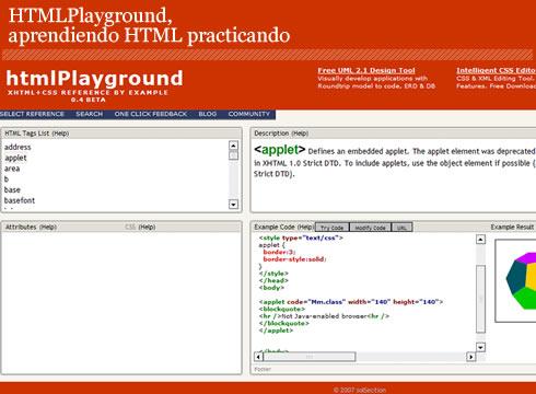 html playground