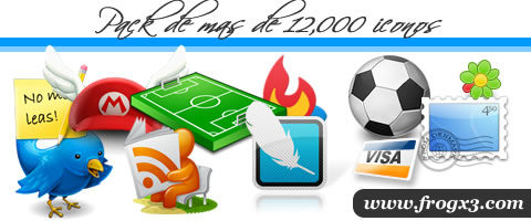 12000 iconos gratis por frogx three