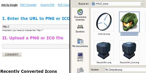 cambiar iconos windows paso3 Convertir iconos PNG a ICO o ICO a PNG