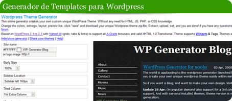Generador de templates para WordPress