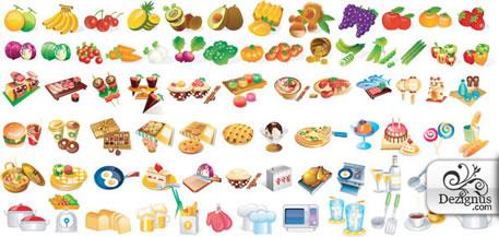 iconos de cocina y de comida