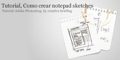 tutorial para crear notepad sketches con photoshop