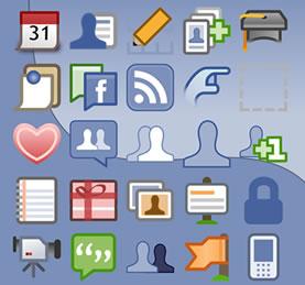 iconos de aplicaciones de facebook