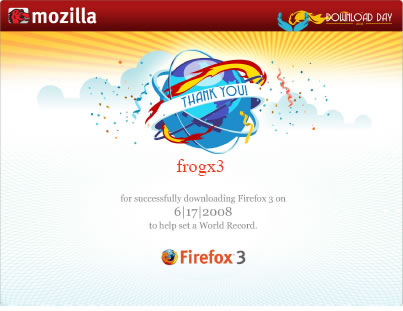 firefox 3 record guinness