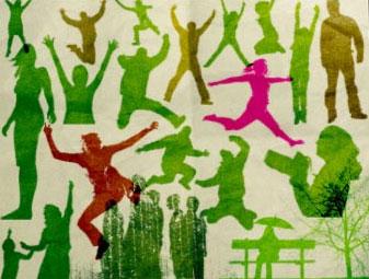 human silhouette brushes 55 sets de brushes y vectores de siluetas y partes del cuerpo humano