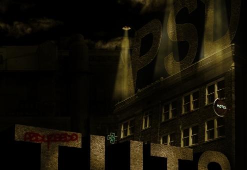 poster estilo sin city