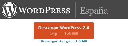 Wordpress 2.6 en Español