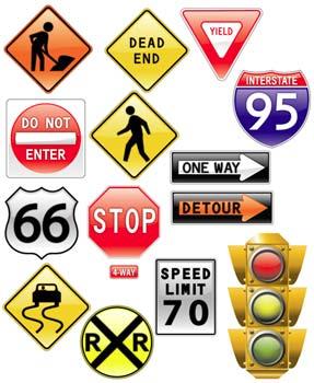 simbolostrafico Iconos de señalamientos de transito en vectores gratis