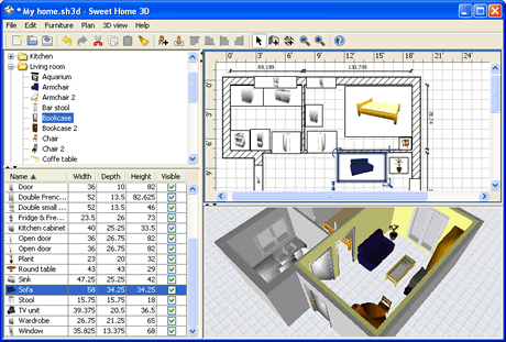 Software para dise o de interiores sweet home 3d frogx for Programa diseno 3d