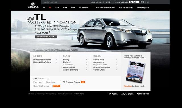 30 diseños web de las mejores marcas de autos del mundo - frogx three