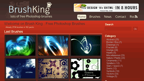 photoshop brushes Pinceles para photoshop gratis en Brushking