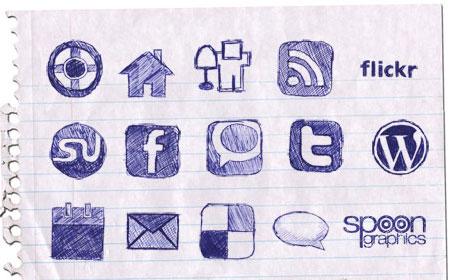 01 02 hand drawn doodle 40 paquetes para descargar iconos gratis