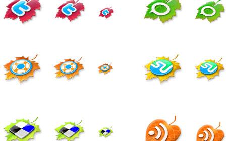 01 13 leaves 40 paquetes para descargar iconos gratis