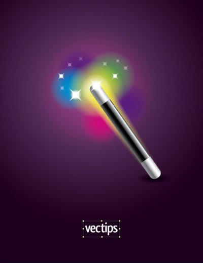 crear una varita magica con illustrator