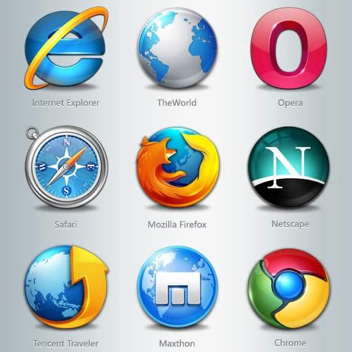 iconos de navegadores