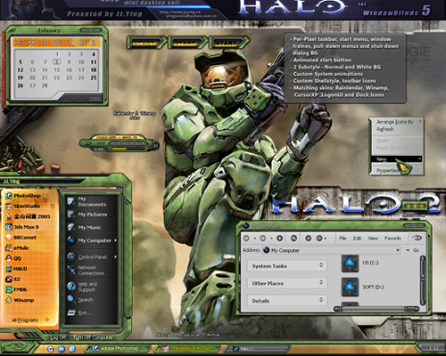 temas windows XP de halo