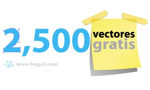 2500 vectores gratis