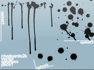 ched2k vector splats pack1 by cheduardo2k 16 vectores abstractos de manchas