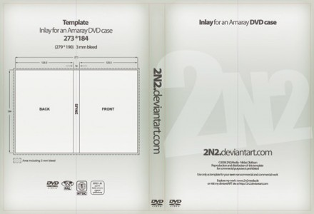 dvd case inlay