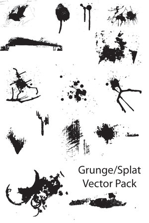 grunge_splat_vector_pack_by_thegoldenmane