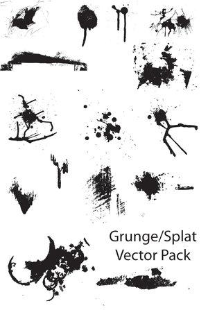 grunge splat vector pack by thegoldenmane 16 vectores abstractos de manchas