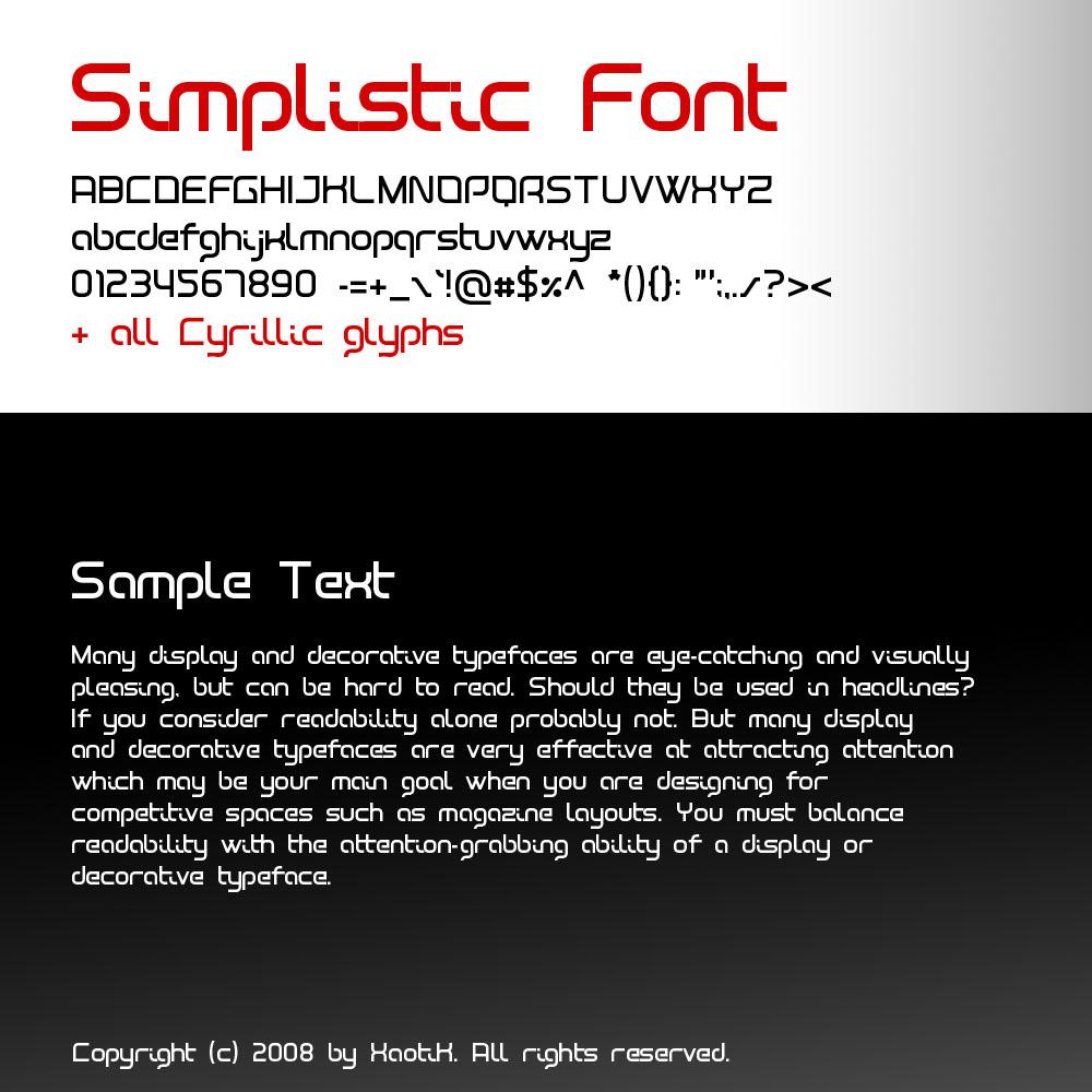 simplistic font by xa0tik 15 fuentes gratis muy bellas